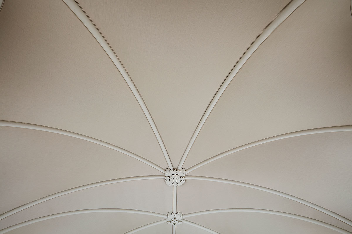 Fabric Walling London 5 Ceiling