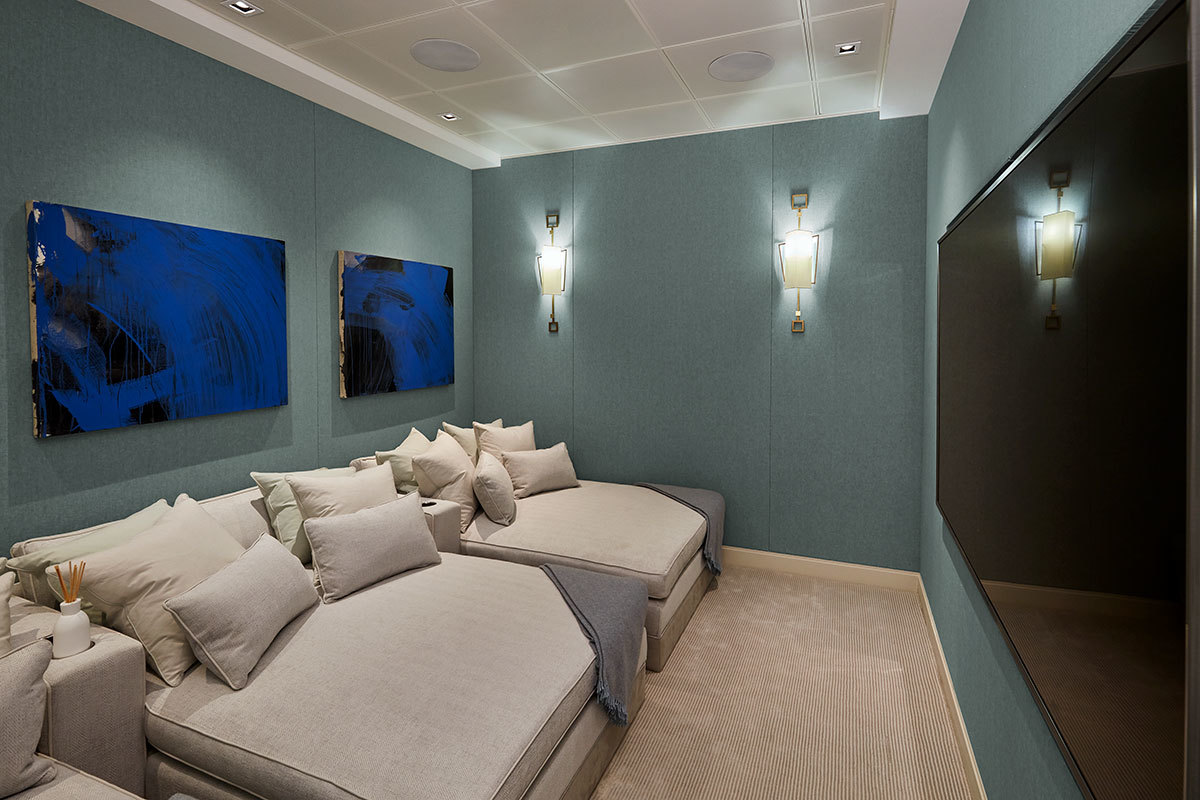 Fabric Walling London 8 Home Cinema